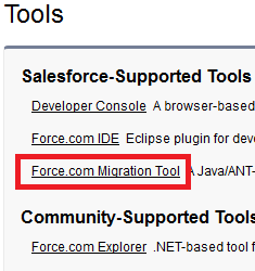 Salesforce Supported Tools