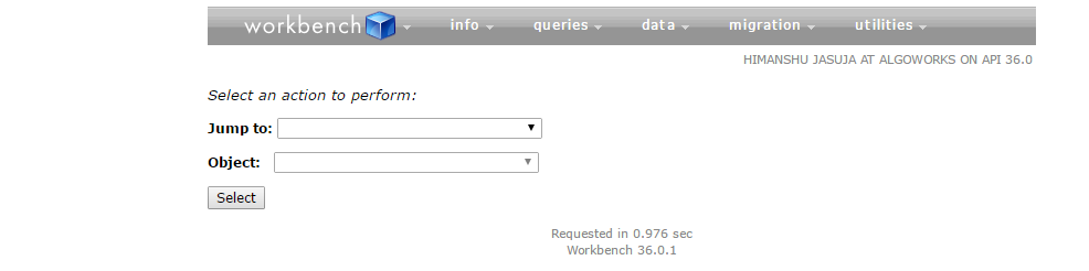 Workbench Login
